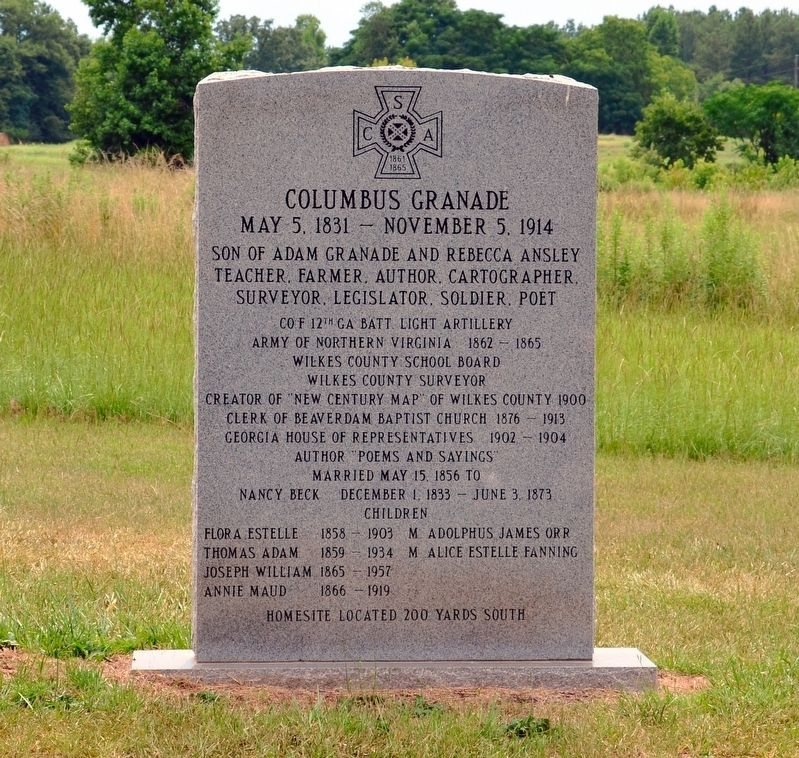 Columbus Granade Marker image. Click for full size.