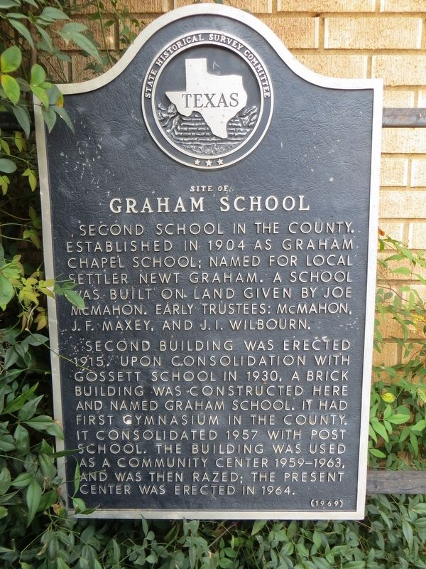 Site of Graham School Marker image. Click for full size.