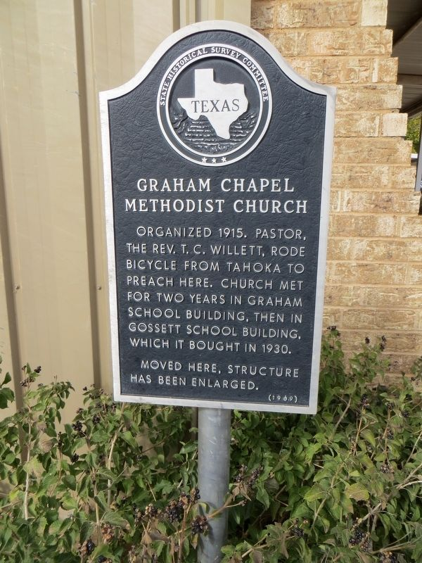 Graham Chapel Methodist Church Marker image. Click for full size.