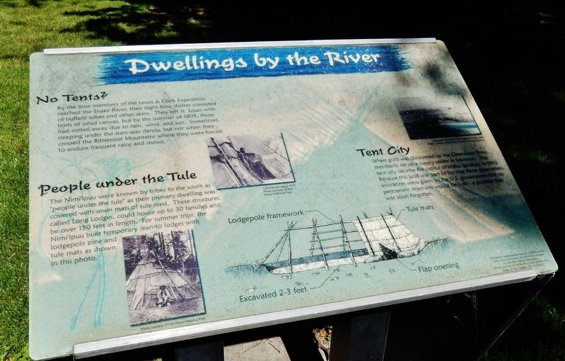 Dwellings by the River Marker image. Click for full size.