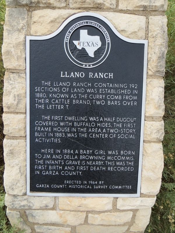 Llano Ranch Marker image. Click for full size.