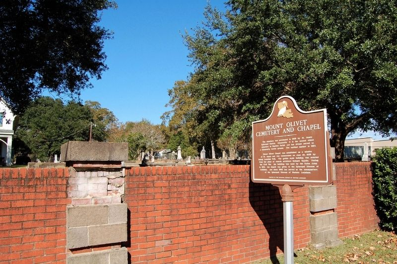 Mount Olivet Cemetery and Chapel Marker image. Click for full size.