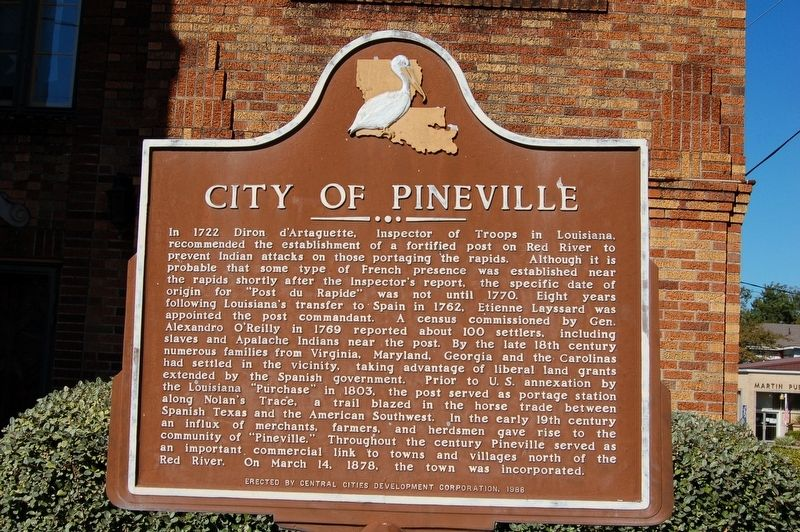 City of Pineville Marker image. Click for full size.