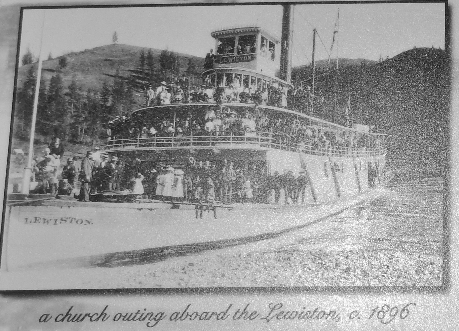 Marker detail: the Lewiston, c1896 image. Click for full size.