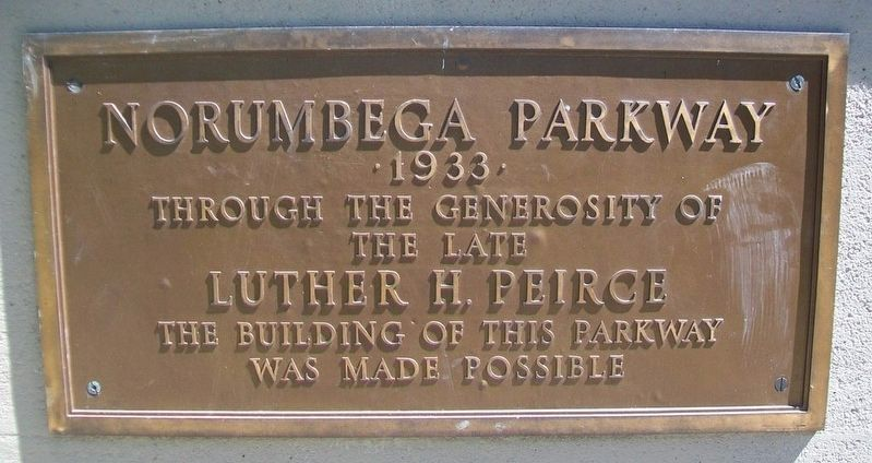 Norumbega Parkway Marker image. Click for full size.