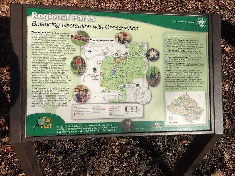 Regional Parks Marker image. Click for full size.