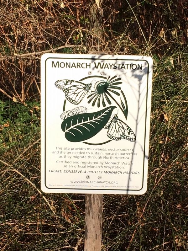 Monarch Waystation Marker image. Click for full size.