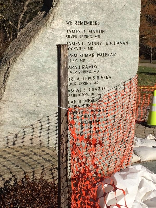 DC Area Snipers Victims Memorial image. Click for full size.