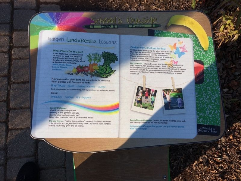 Garden Lunch/Recess LEssons Marker image. Click for full size.