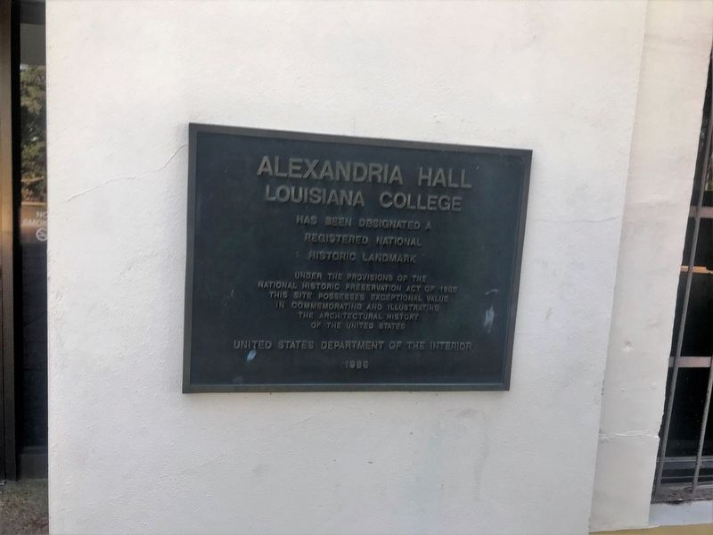 Alexandria Hall Marker image. Click for full size.