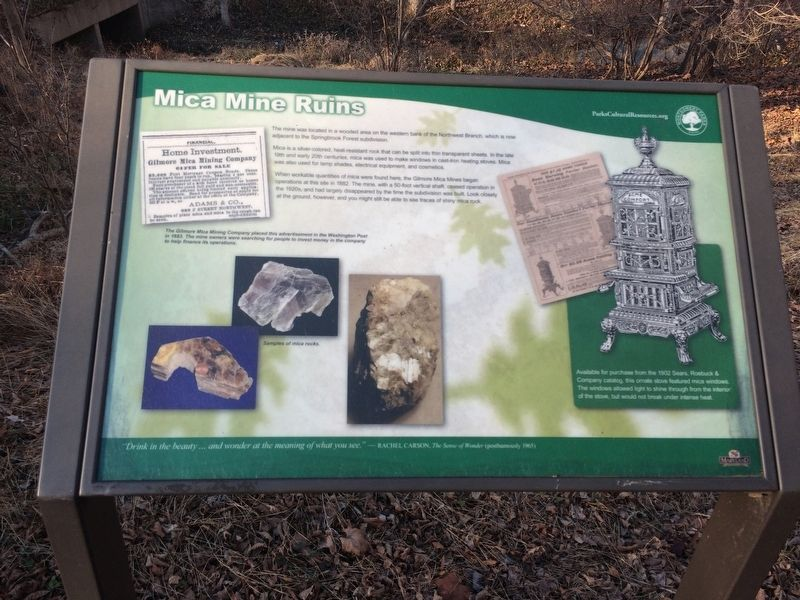 Mica Mine Ruins Marker image. Click for full size.
