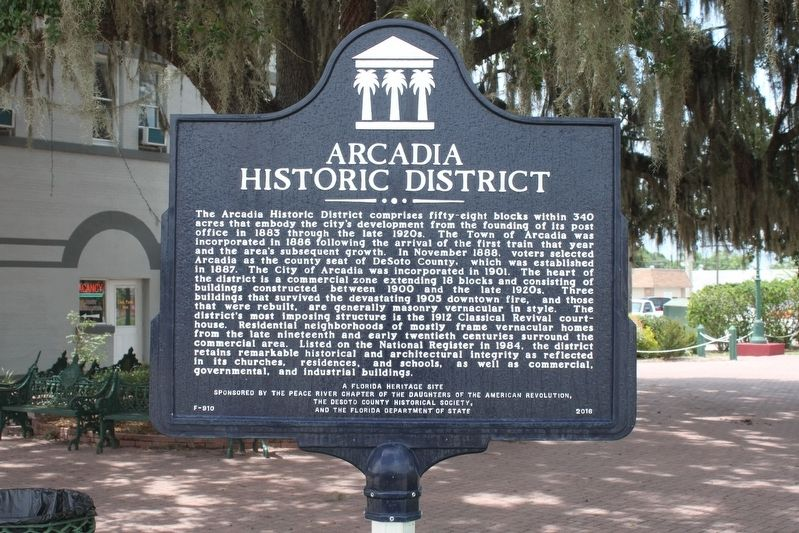 Arcadia Historic District Marker image. Click for full size.