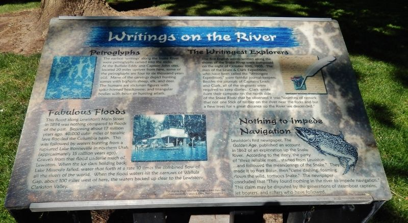 Writings on the River Marker image. Click for full size.