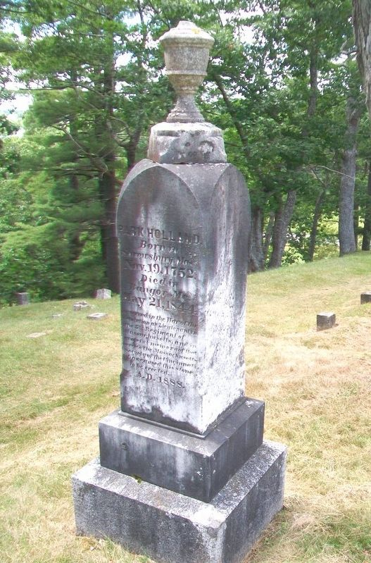 Park Holland Grave Marker image. Click for full size.
