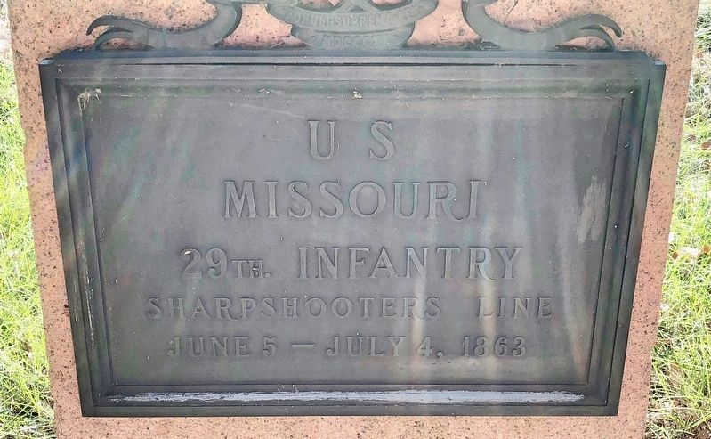 U S Missouri 29th Infantry Marker image. Click for full size.