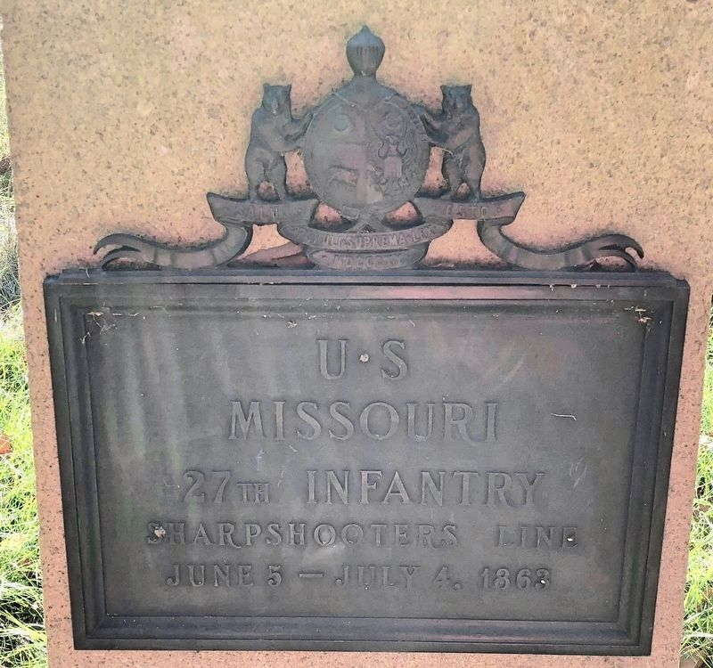U S Missouri 27th Infantry Marker image. Click for full size.