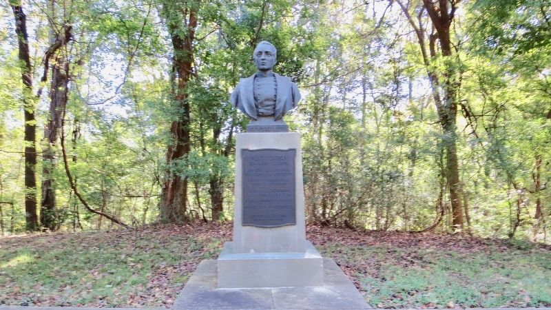 Statue of Arza Goodspeed, West Virginia 15th Army Corps. image. Click for full size.