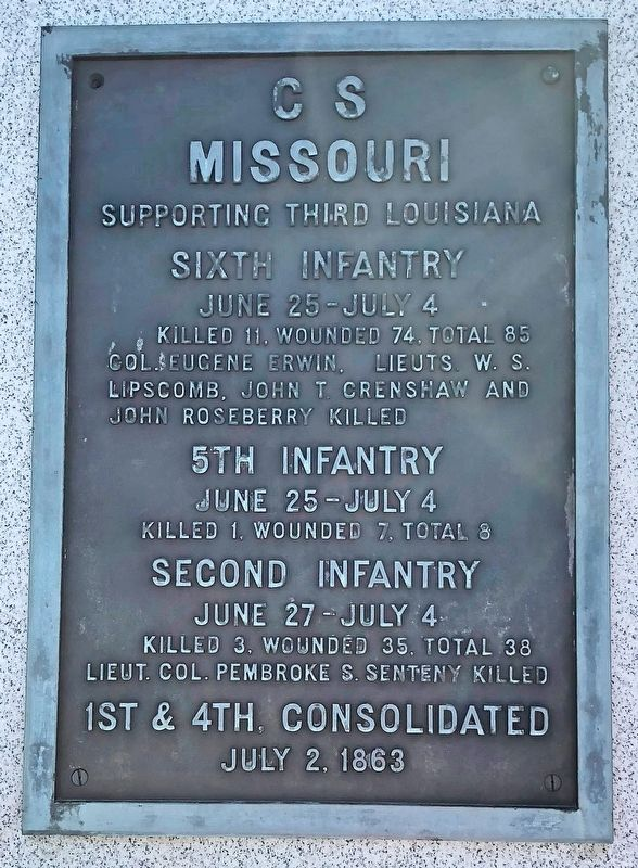 C S Missouri Marker image. Click for full size.