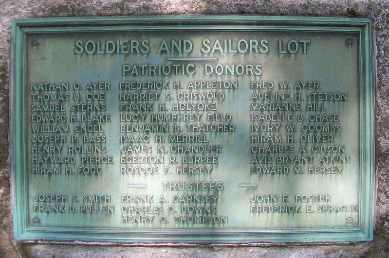 Soldiers and Sailors Lot Marker image. Click for full size.
