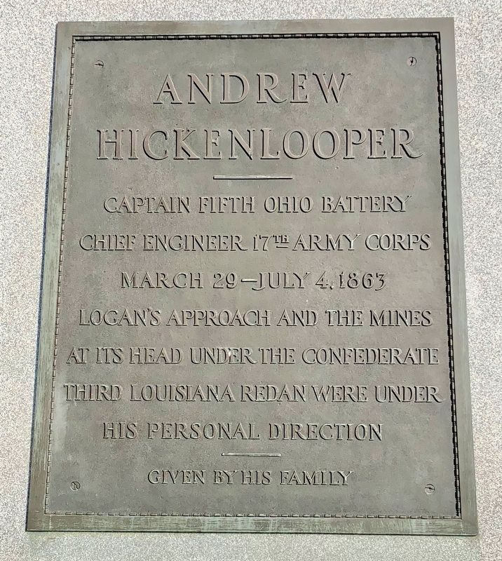 Andrew Hickenlooper Marker image. Click for full size.