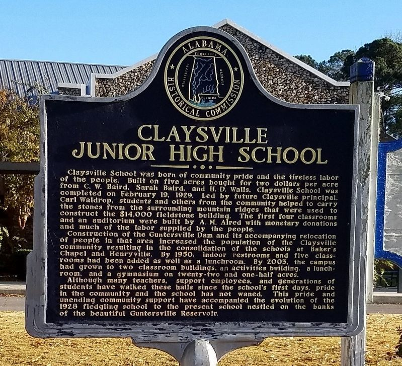 Claysville Junior High School Marker image. Click for full size.