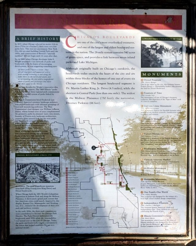 The Boulevard System Marker image. Click for full size.