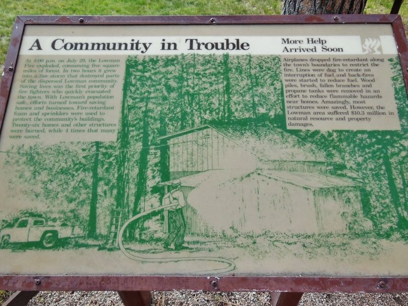 A Community in Trouble Marker image. Click for full size.