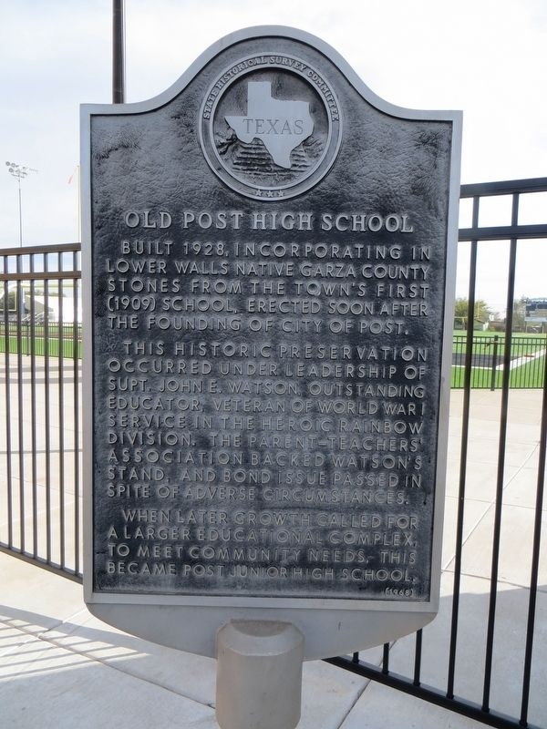 Old Post High School Marker image. Click for full size.