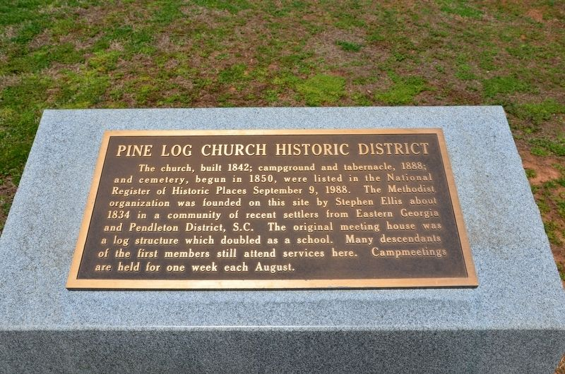 Pine Log Church Historic District Marker image. Click for full size.