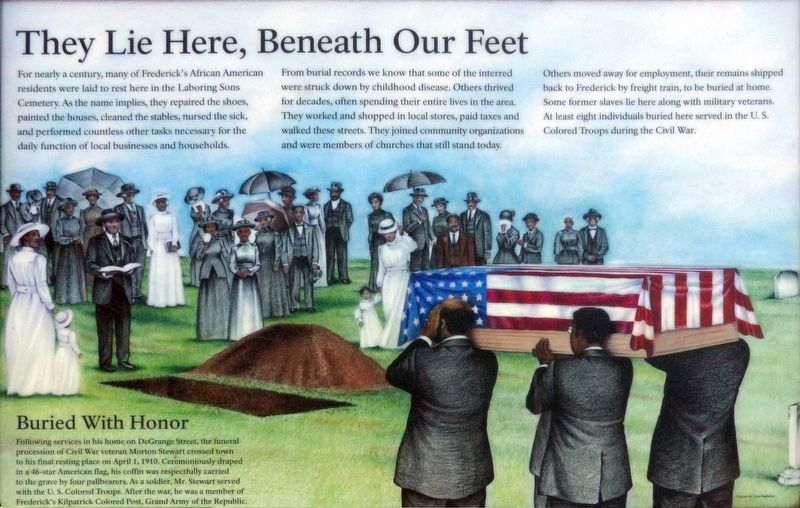 They Lie Here, Beneath Our Feet Marker image. Click for full size.