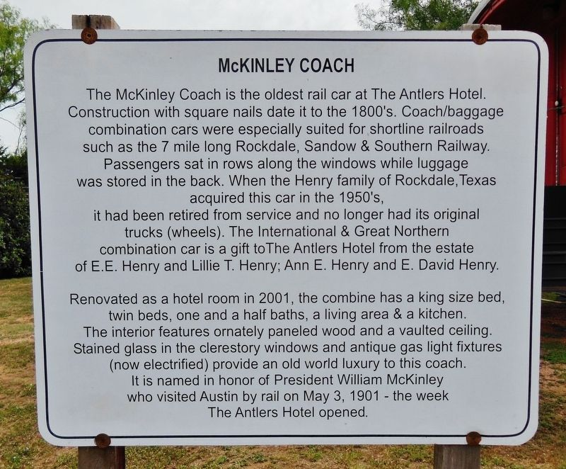 McKinley Coach Marker image. Click for full size.