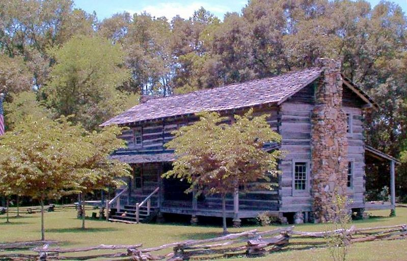 This Log House is Similar to the Home of Chief William McIntosh image. Click for full size.