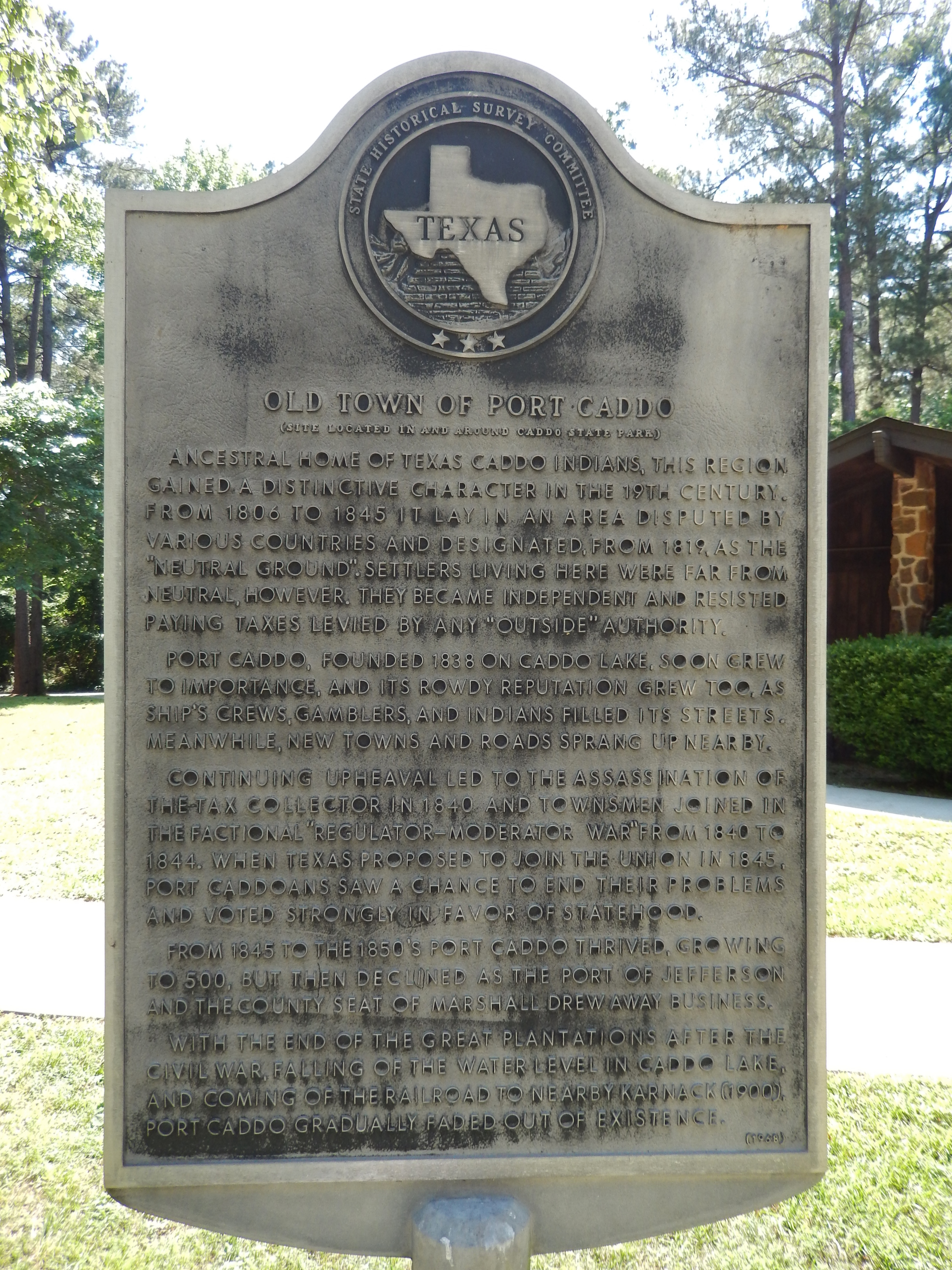 Old Town of Port Caddo Marker