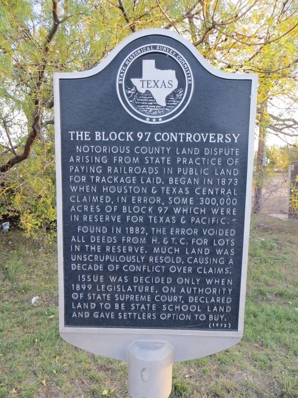 The Block 97 Controversy Marker image. Click for full size.