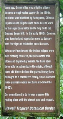 Onomea Bay Marker image. Click for full size.