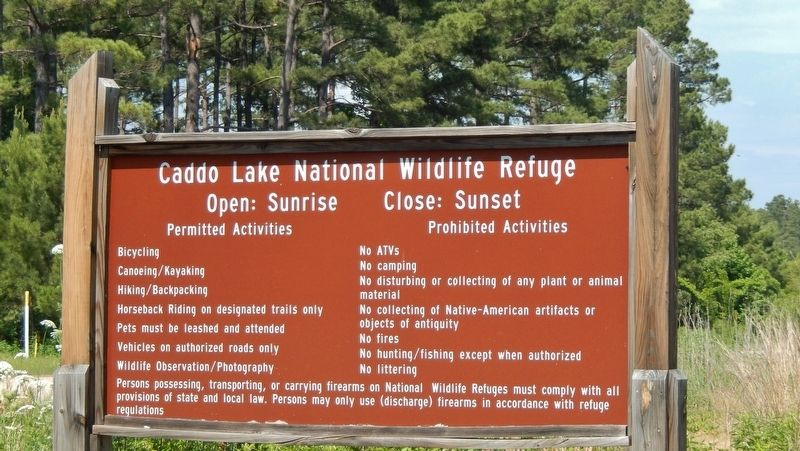Caddo Lake National Wildlife Refuge (<i>site of former Army Ammunition Plant</i>) image. Click for full size.