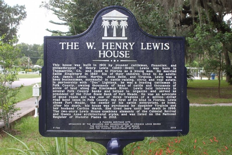 The W. Henry Lewis House Marker image. Click for full size.