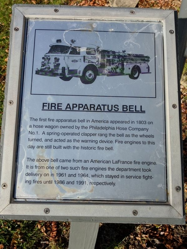 Fire Apparatus Bell Marker image. Click for full size.