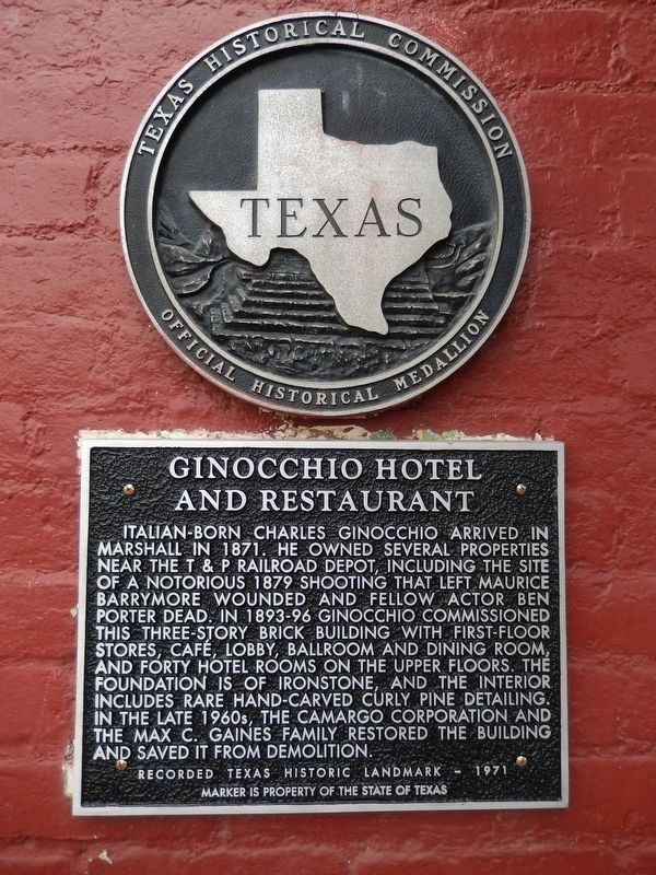 Ginocchio Hotel and Restaurant Marker image. Click for full size.