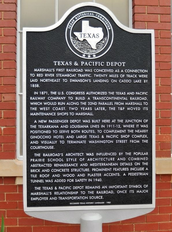 Texas & Pacific Depot Marker image. Click for full size.