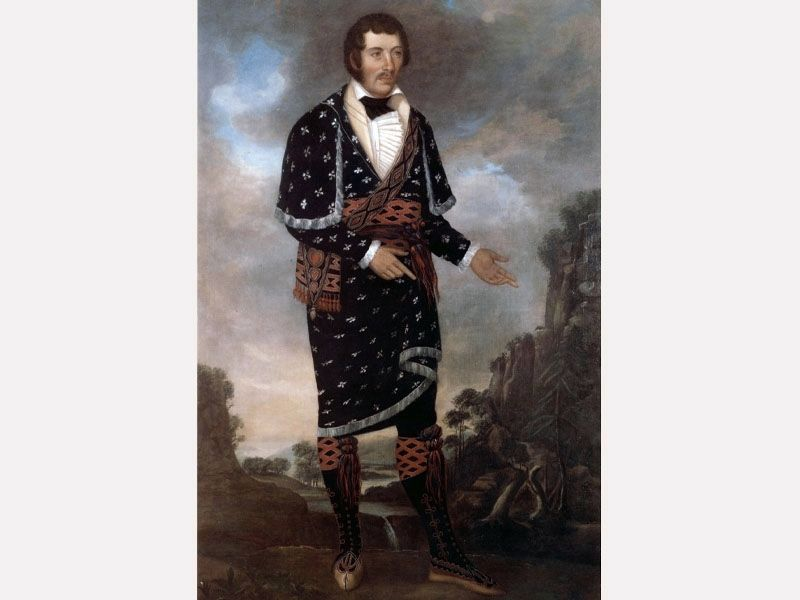Another Painting Believed to be of Chief William McIntosh image. Click for full size.