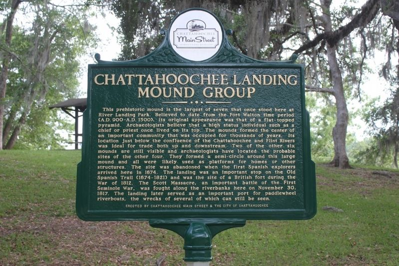 Chattahoochee Landing Mound Group Marker image. Click for full size.