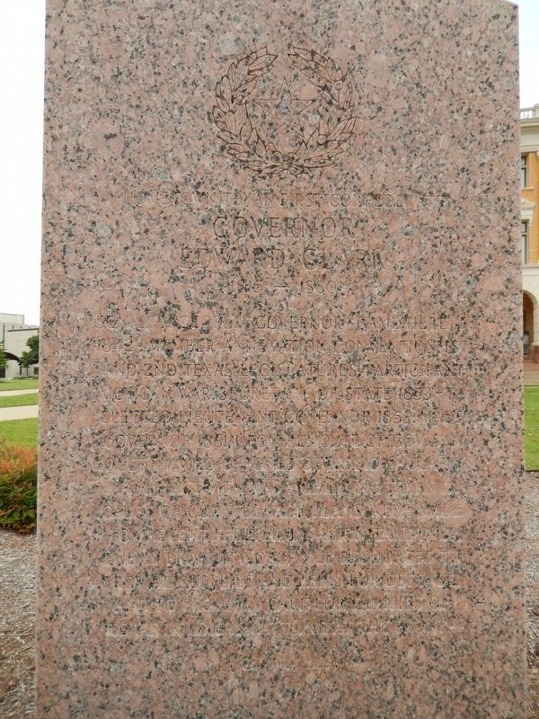 Governor Edward Clark Marker (<i>front side</i>) image. Click for full size.
