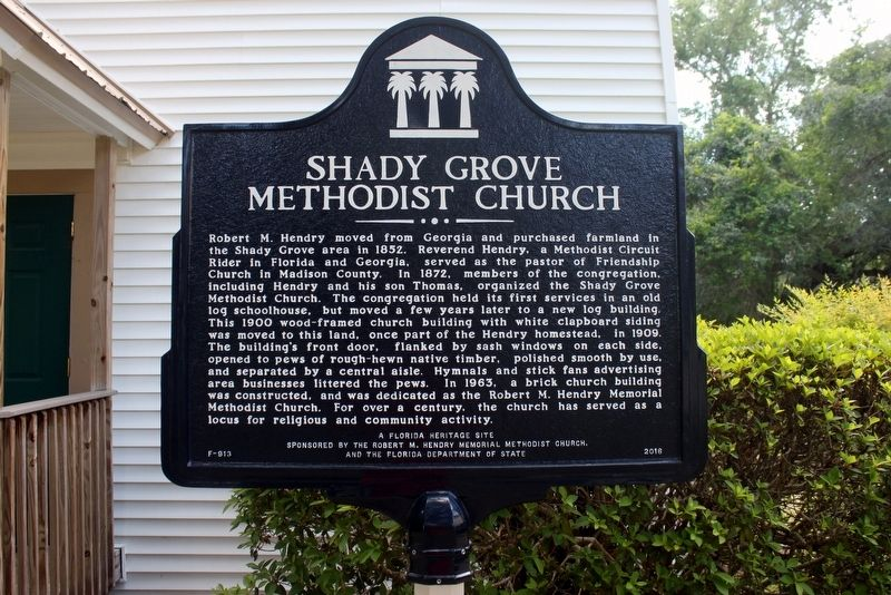 Shady Grove Methodist Church Marker image. Click for full size.