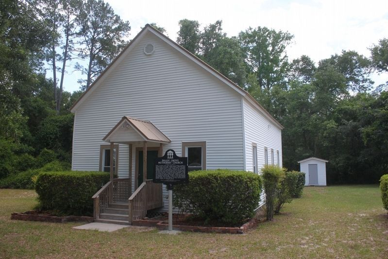 Shady Grove Methodist Church and Marker image. Click for full size.