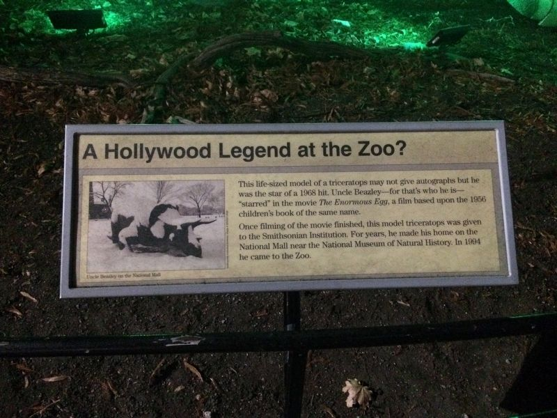 A Hollywood Legend at the Zoo? Marker image. Click for full size.