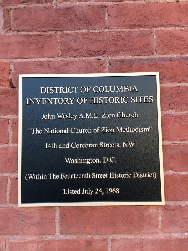 District of Columbia Inventory of Historic Sites Marker image. Click for full size.