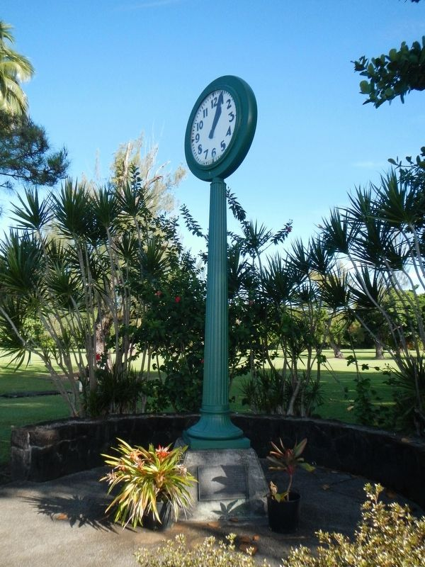Waiakea Social Settlement Clock and Marker image. Click for full size.