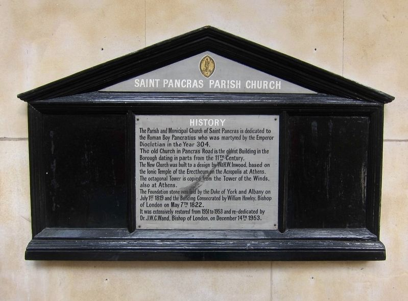 Saint Pancras Parish Church Marker image. Click for full size.