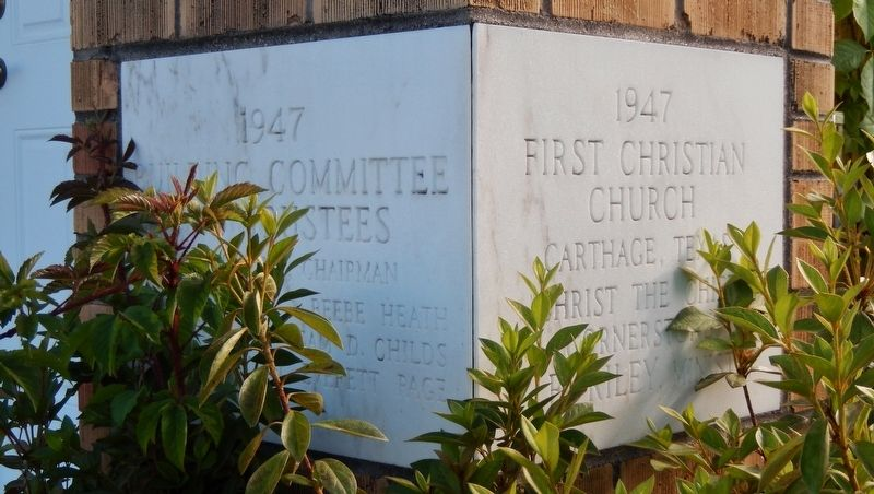 First Christian Church of Carthage (<i>cornerstone</i>) image. Click for full size.